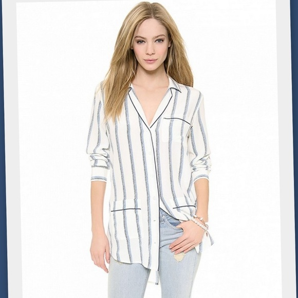 af27192bb58b Equipment Tops   Gavin Pajama Inspired Silk Blouse   Poshmark